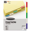 INSERTABLE TAB DIVIDERS, 3-HOLE PUNCHED, 5-TAB, 11 X 8.5, BUFF, 1 SET