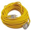 Polar/solar Outdoor Extension Cord, 50ft, Yellow