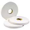 4016 Double Coated Urethane Foam Tape, 1in x 36yd