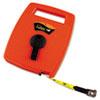 Hi-Viz Linear Measuring Tape Measure, 1/2in X 100ft, Orange, Fiberglass Tape
