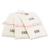 Extra Large Claim Checks, 1-500, 4 3/4 x 2 3/8, Manila, 500/Box
