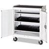 Mobile Tablet Storage Cart, 36w x 24d x 43h, White