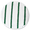 Low Profile Scrub-Strip Carpet Bonnet, 17 Diameter, White/green