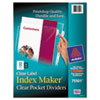 Avery® Index Maker® Punched Clear Pocket Presentation Dividers