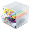 STACKABLE CUBE ORGANIZER, 4 DRAWERS, 6 X 7 1/8 X 6, CLEAR