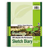 Ecology Sketch Diary, 11 x 8 1/2, Unruled, White, 70 Sheets, 1 Pad
