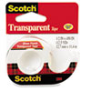 "TRANSPARENT TAPE IN HANDHELD DISPENSER, 1"" CORE, 0.5"" X 37.5 FT, TRANSPARENT"