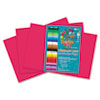 Heavyweight Construction Paper, 58 lbs., 12 x 18, Scarlet, 50 Sheets/Pack