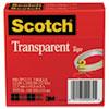 "Transparent Tape 600 2p12 72, 1/2"" X 2592"", 3"" Core, Transparent, 2/pack"