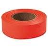 Flagging Tape, Glo-Orange, 1 X 200ft, Plastic