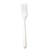 HEAVYWEIGHT CUTLERY, FORKS, POLYPROPYLENE, WHITE, 1000/CARTON
