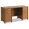 Envoy Double Pedestal Desk (Box 1 of 2), 58w x 23 1/4d x 30 1/4h, Natural Cherry