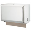 Singlefold Paper Towel Dispenser, White, 10 3/4 x 6 x 7 1/2