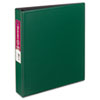 "Durable Binder with Slant Rings, 11 x 8-1/2, 1-1/2"" Capacity, Green"