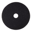 Low-Speed Stripper Floor Pad 7200, 15 Diameter, Black, 5/carton