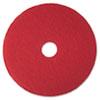 Low-Speed Buffer Floor Pads 5100, 14 Diameter, Red, 5/carton