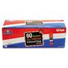 Washable All Purpose School Glue Sticks, Clear, 60/box