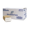 Multifold Towel, 1-Ply, White, 250/pack, 16 Packs/carton