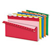 "Ready-Tab Hanging File Folders, 2"" Capacity, 1/6 Tab, Legal, Assorted, 20/Box"