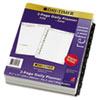 Two-page-per-day original format planner refill.