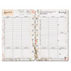 Blooms Dated Weekly/Monthly Planner Refill, Jan.-Dec., 5 1/2 x 8 1/2, 2017