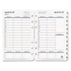 Original Dated Weekly/Monthly Planner Refill, Jan.-Dec., 4 3/4 x 6 3/4, 2017