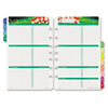 Garden path design two-page-per-week organizer refill.