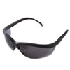 Klondike Safety Glasses, Matte Black Frame, Gray Lens