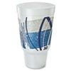 Impulse Hot/cold Foam Drinking Cup, 32oz, Flush Fill, Printed, Blue/gray, 16/bag