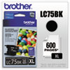 Brother LC75BK High Yield Black Ink Cartridge