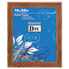 Plastic Poster Frame, Traditional Clear Plastic Window, 16 X 20, Medium Oak