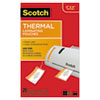 Luggage Tag Size Thermal Laminating Pouches, 5 Mil, 4 1/5 X 2 1/2, 25/pack