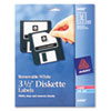 Picture of LaserInkjet 35quot Diskette Labels White 375Pack