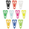 "Paper Clips, Plastic, Large (1-3/8""), Assorted Colors, 200/Box"