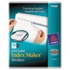 Index Maker Print & Apply Clear Label Dividers W/white Tabs, 12-Tab, Letter