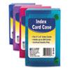 Index Card Case, Holds 200 4 X 6 Cards, Polypropylene, Assorted