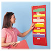 Storage Pocket Chart, 5 Pockets, Red, 14 x 32