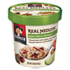 Real Medleys Oatmeal, Apple Walnut Oatmeal+, 2.64oz Cup, 12/Carton 15504