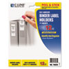 Self-Adhesive Ring Binder Label Holders, Top Load, 1-3/4 X 3-1/4, Clear, 12/pack