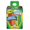 Washable Sidewalk Chalk, 16 Assorted Colors, 16 Sticks/set