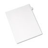Allstate-Style Legal Exhibit Side Tab Divider, Title: D, Letter, White, 25/pack