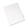 Allstate-Style Legal Exhibit Side Tab Divider, Title: F, Letter, White, 25/pack