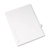 Allstate-Style Legal Exhibit Side Tab Divider, Title: H, Letter, White, 25/pack
