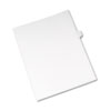 Allstate-Style Legal Exhibit Side Tab Divider, Title: J, Letter, White, 25/pack