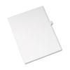 Allstate-Style Legal Exhibit Side Tab Divider, Title: K, Letter, White, 25/pack