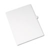 Allstate-Style Legal Exhibit Side Tab Divider, Title: L, Letter, White, 25/pack