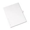 Allstate-Style Legal Exhibit Side Tab Divider, Title: N, Letter, White, 25/pack