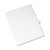Allstate-Style Legal Exhibit Side Tab Divider, Title: P, Letter, White, 25/pack
