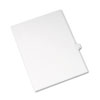 Allstate-Style Legal Exhibit Side Tab Divider, Title: Q, Letter, White, 25/pack