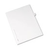 Allstate-Style Legal Exhibit Side Tab Divider, Title: R, Letter, White, 25/pack